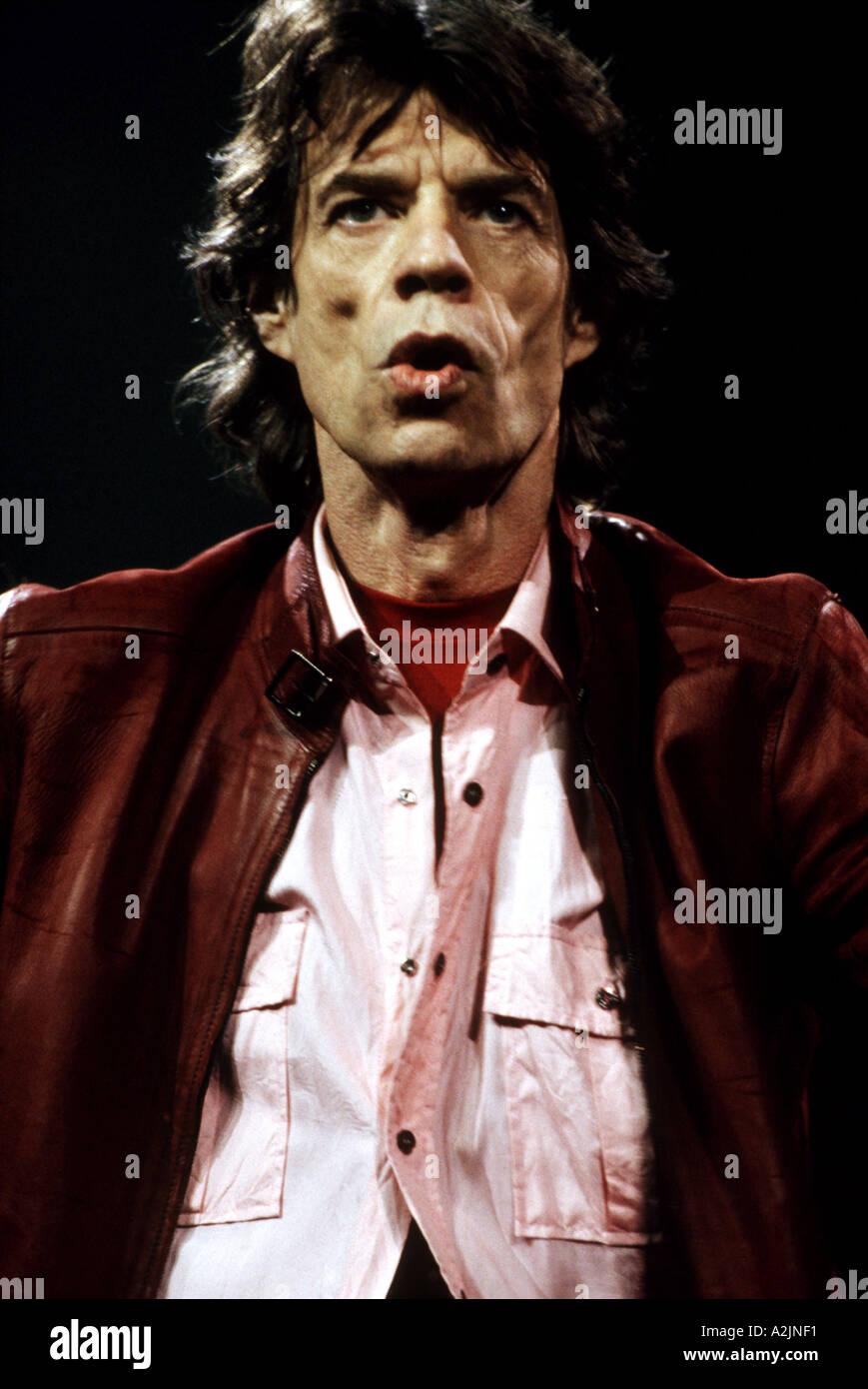 ROLLING STONES Mick Jagger Stock Photo