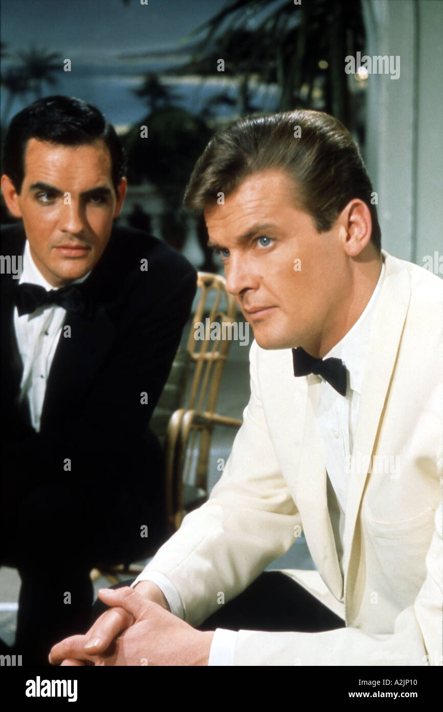 THE SAINT Roger Moore in the UK TV series as Simon Templar - Stock Image