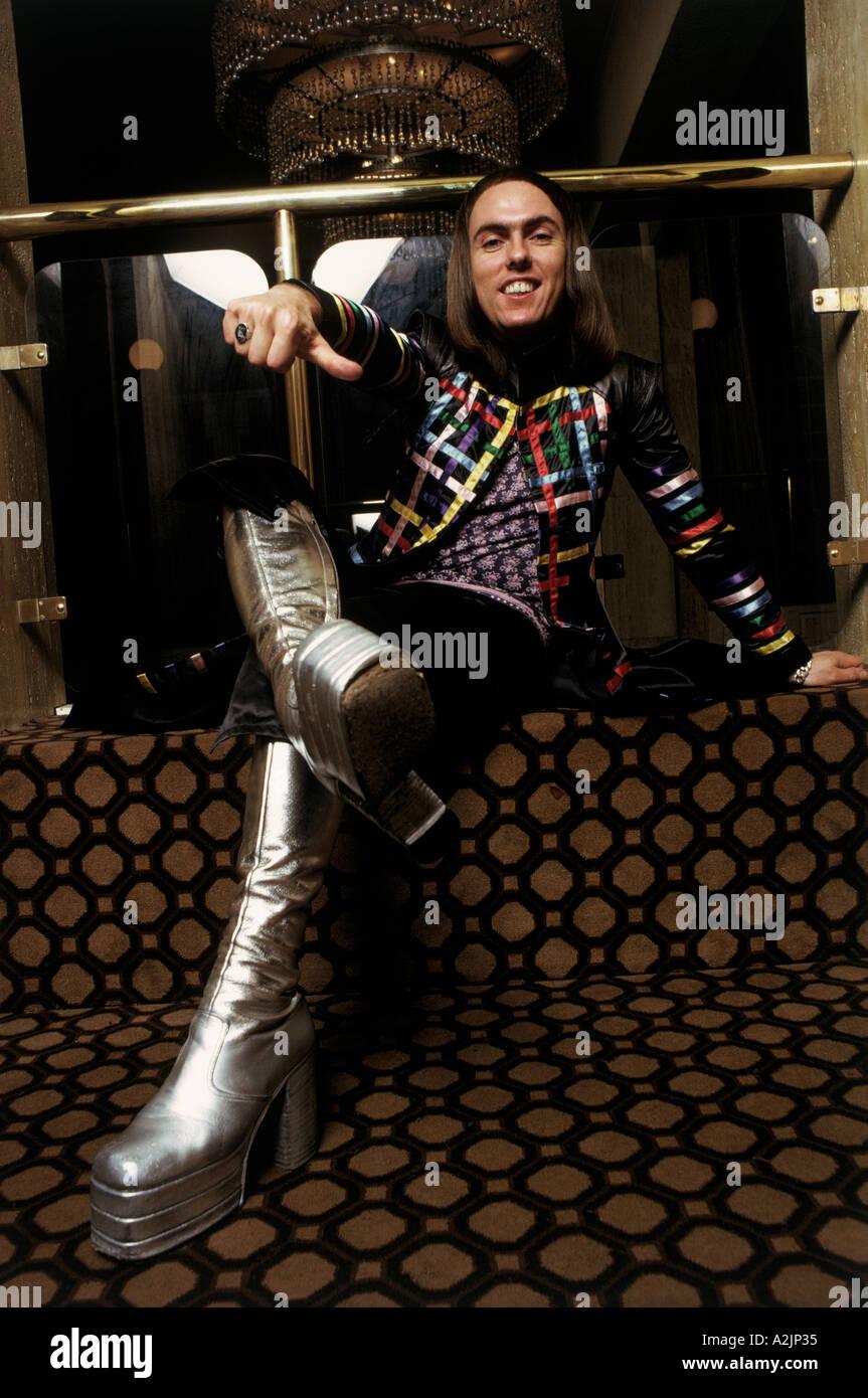 SLADE UK pop band band member in 1974 - Stock Image