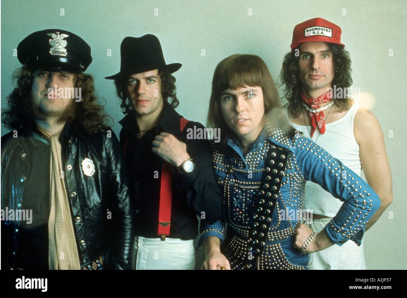 SLADE UK Glam Rock band of the 70swith Noddy Holder at left - Stock Image