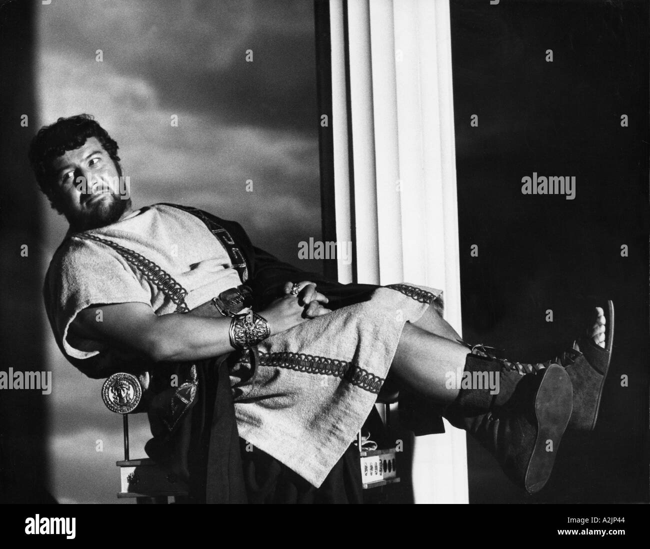 SPARTACUS Peter Ustinov as the slave owner in the 1960 film - Stock Image