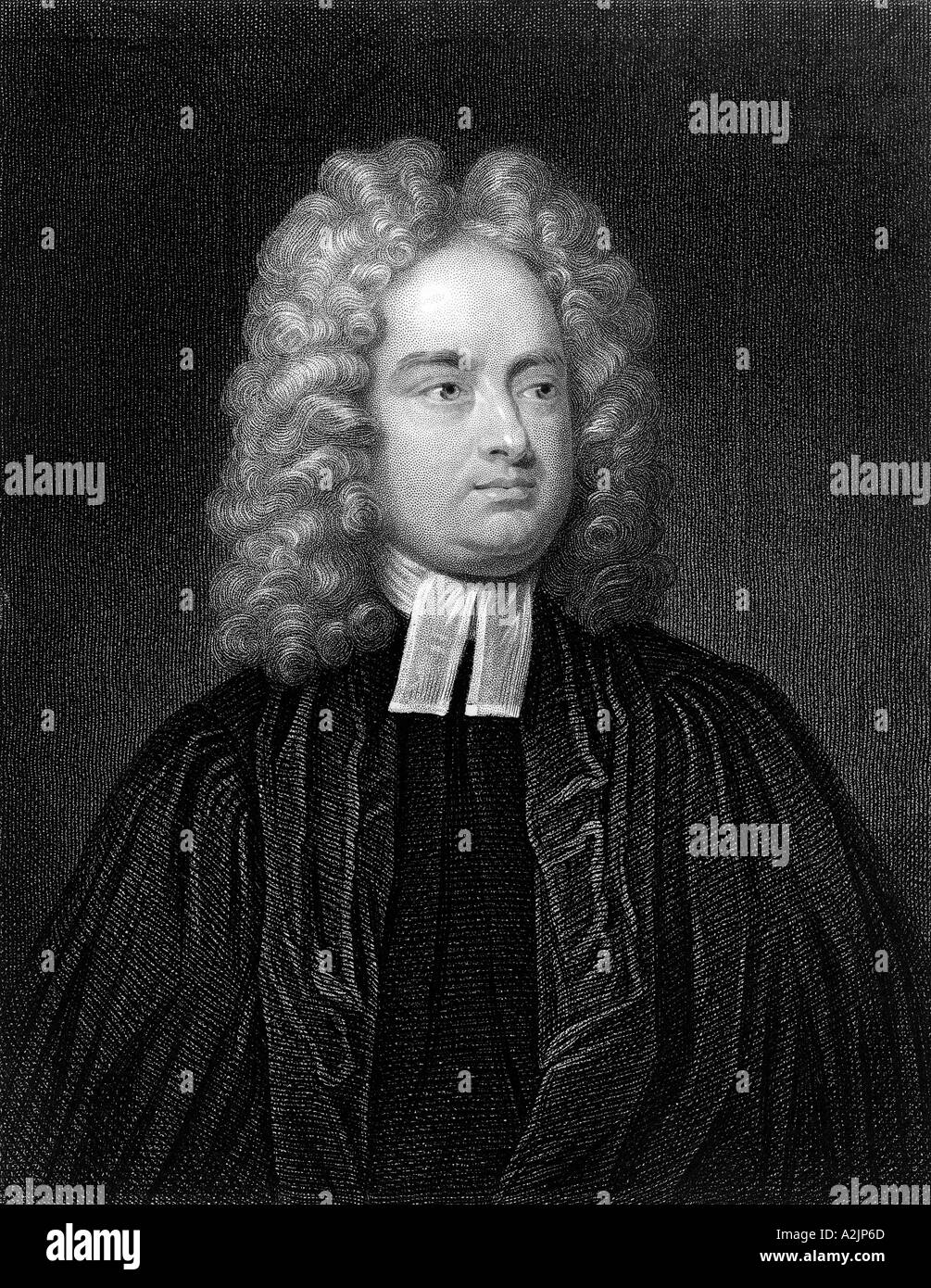 JONATHAN SWIFT Anglo Irish satirist and churchman 1667 1745 who wrote Gulliver s Travels 1726 - Stock Image