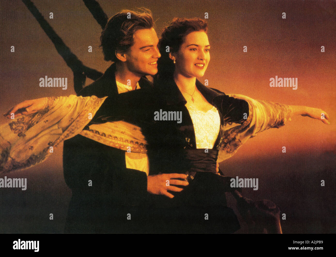 TITANIC Oscar winning 1997 film starring Leonardo DiCaprio and Kate Winslet - Stock Image