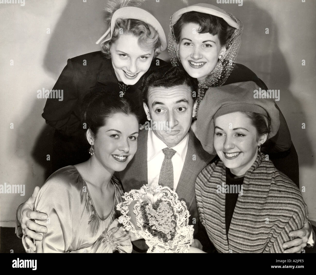 VIC DAMONE American singer actor when he was voted one ofAmerica s Ten Most Eligible Bachelors in 1949 - Stock Image