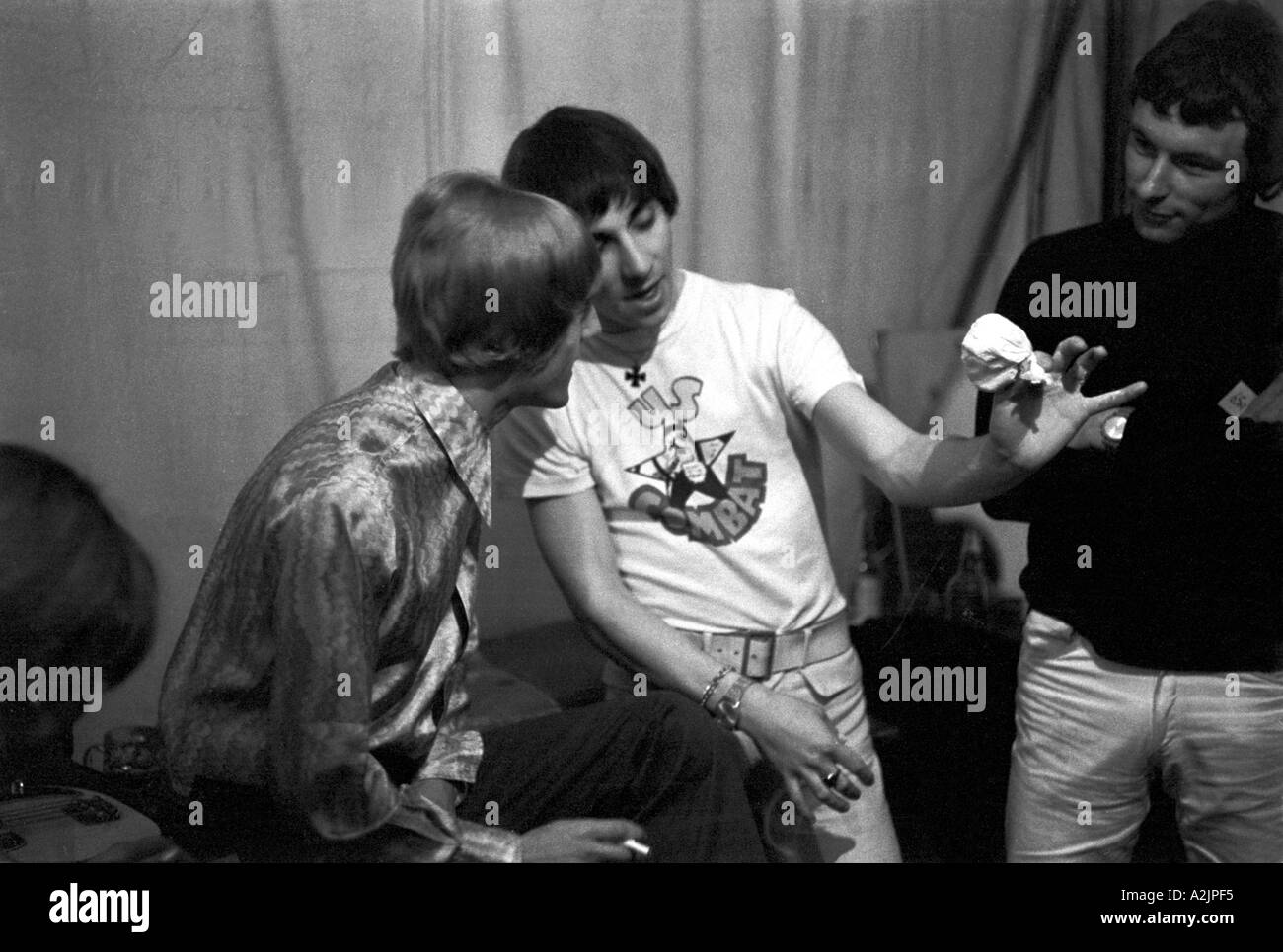 THE WHO Roger Daltrey left and Keith Moon - Stock Image