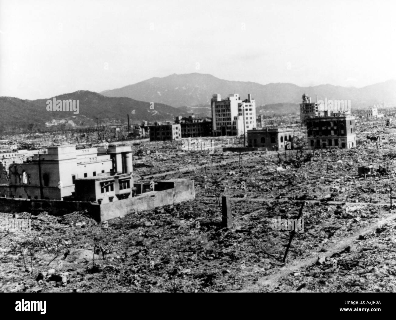 the devastation in the city of hiroshima after the atomic bombing in 1945 Aerial views of the city of hiroshima before and after the atomic bomb was dropped national archives an aerial view of hiroshima showing the devastation caused by a single atomic bomb getty.