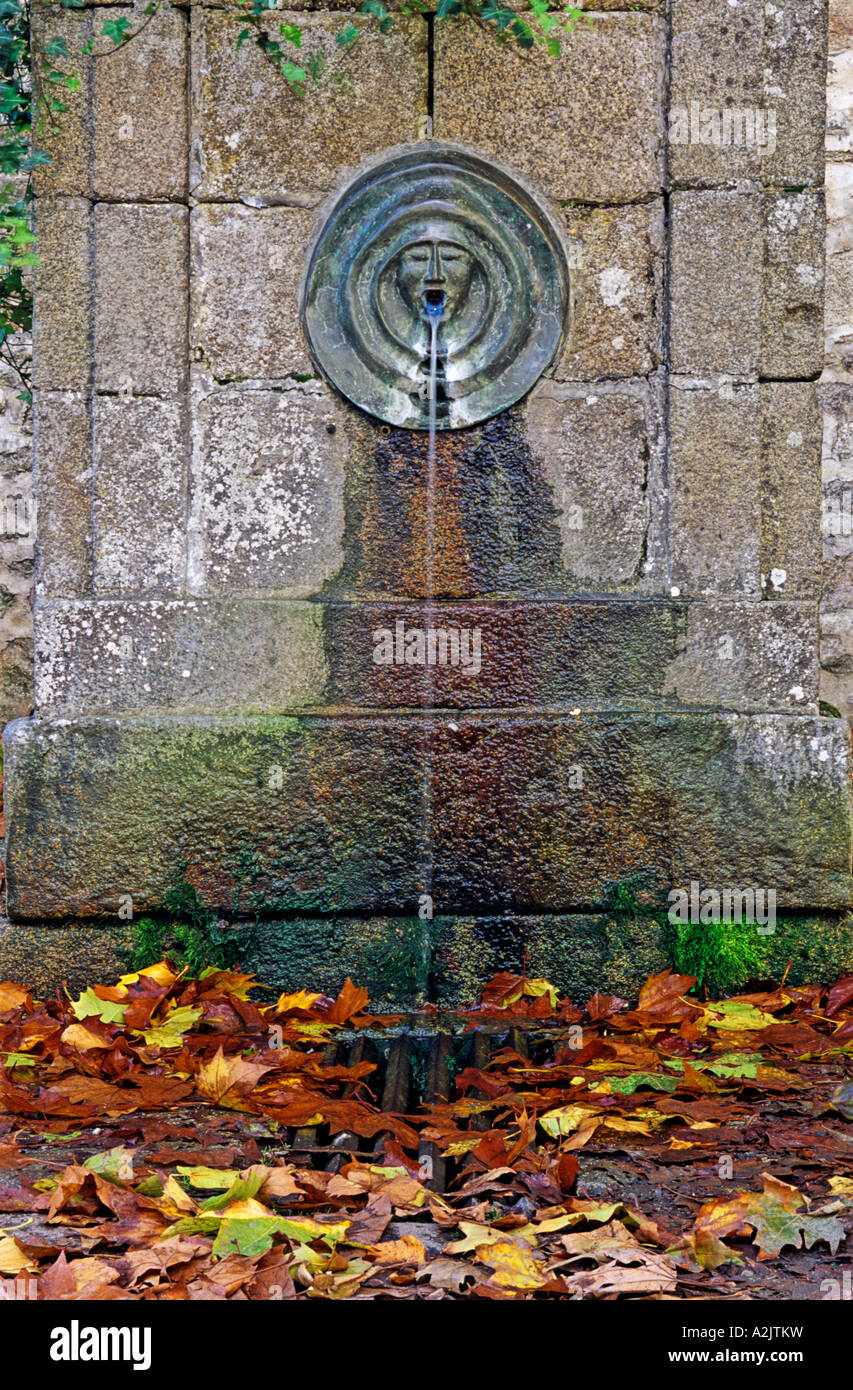 Fontaine Daniel Toile De Mayenne water fountain in the village of fontaine daniel situated in