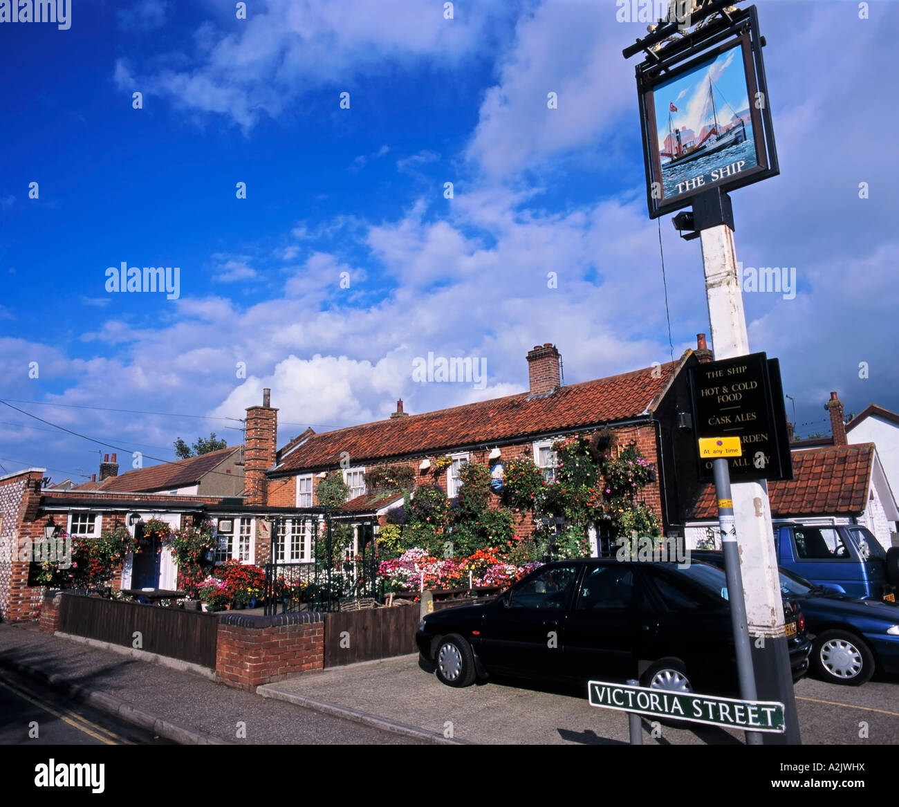 The Ship Traditional English Pub Caister Great Yarmouth Norfolk England Great Britain Stock Photo
