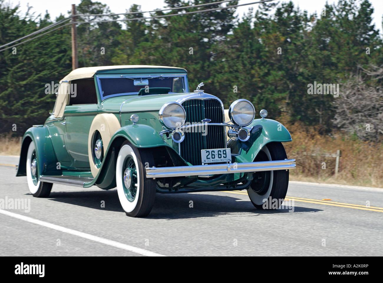 'Lincoln KB LeBaron ^Convertible ^Roadster, ^1932, 'Pebble Beach Concourse d'Elegance Tour', Monterey, - Stock Image