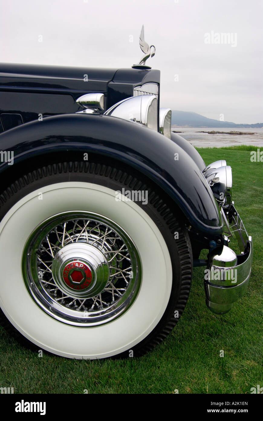 'Packard ^convertible ^1930s, ^prizewinner, 'Pebble Beach Concourse d'Elegance', California' - Stock Image