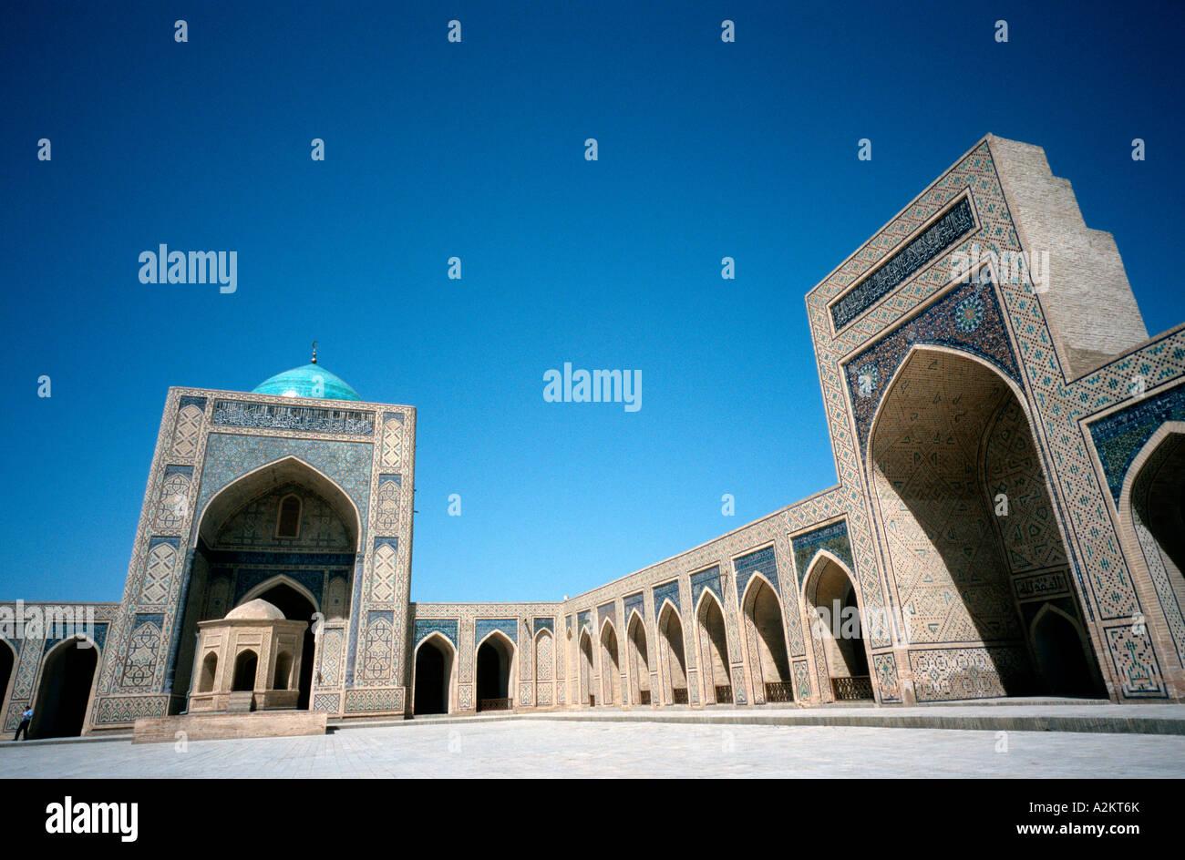 Kalyan Mosque (Maedjid-i Kalyan) in the Uzbek town of Bukhara. - Stock Image