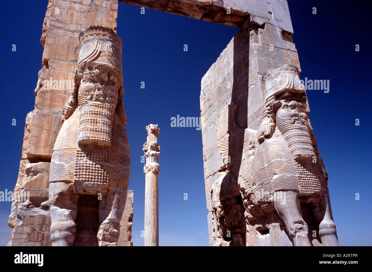 April 14, 2006 - The Gate of All Nations, entrance to the ancient city of Persepolis (Takt-e- Jamshid) outside Iranian - Stock Image