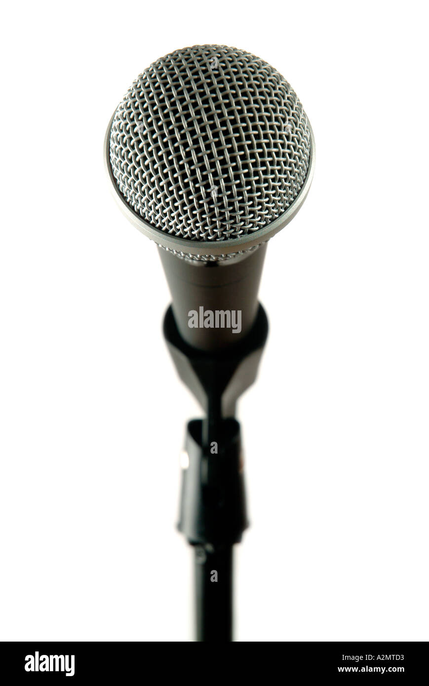 Microphone on stand - Stock Image