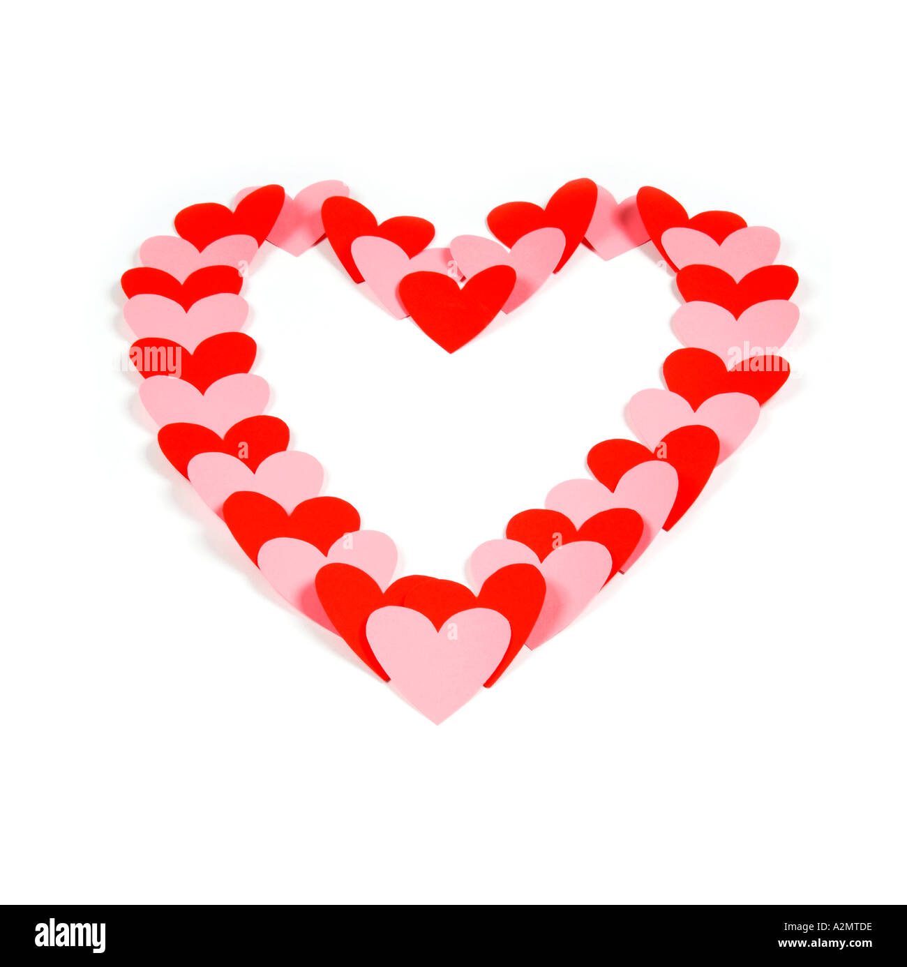 Paper hearts - Stock Image