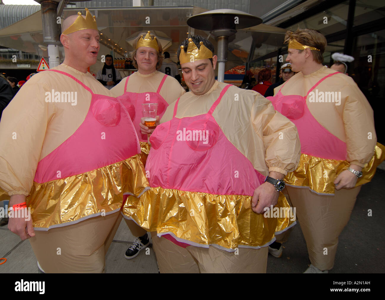 Men in fancy dress costumes at carnival, Germany Stock Photo ...