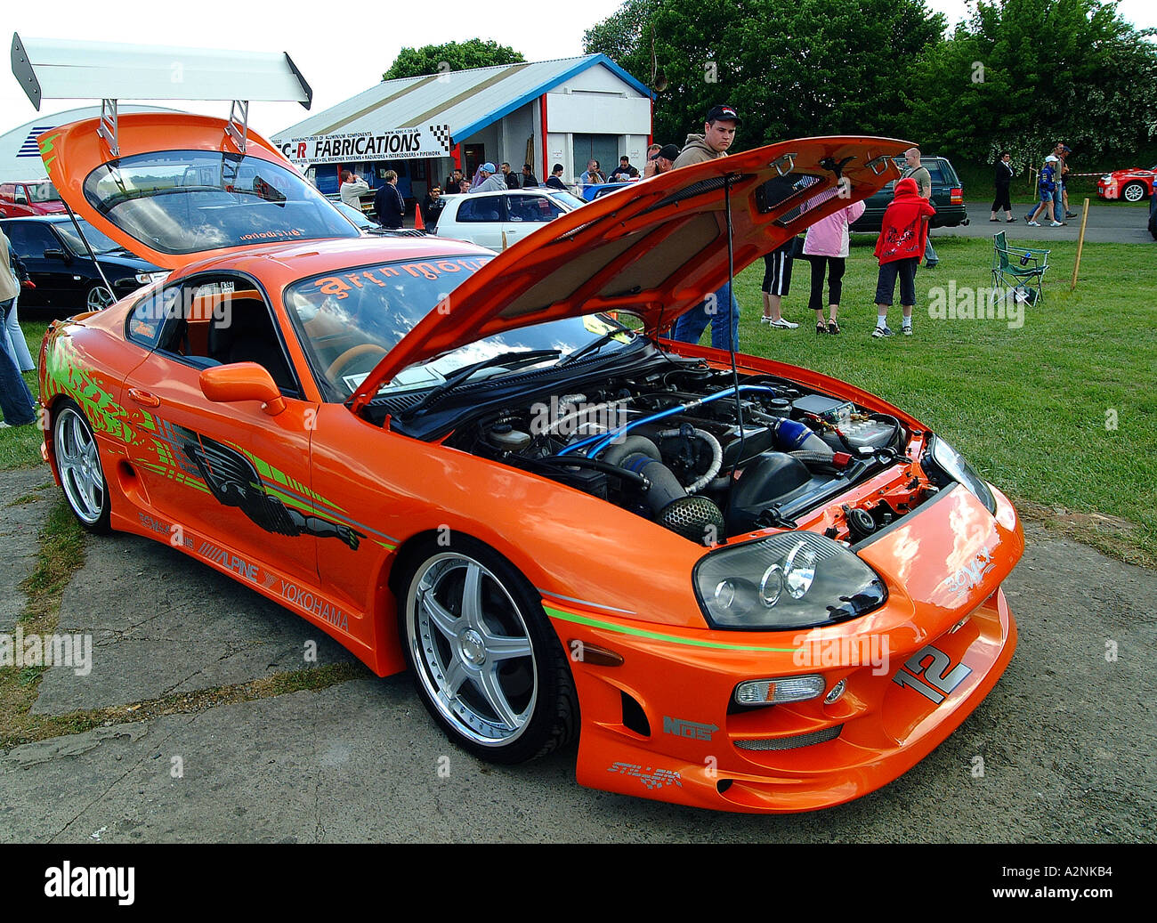 Fast furious street racer performance car - Stock Image