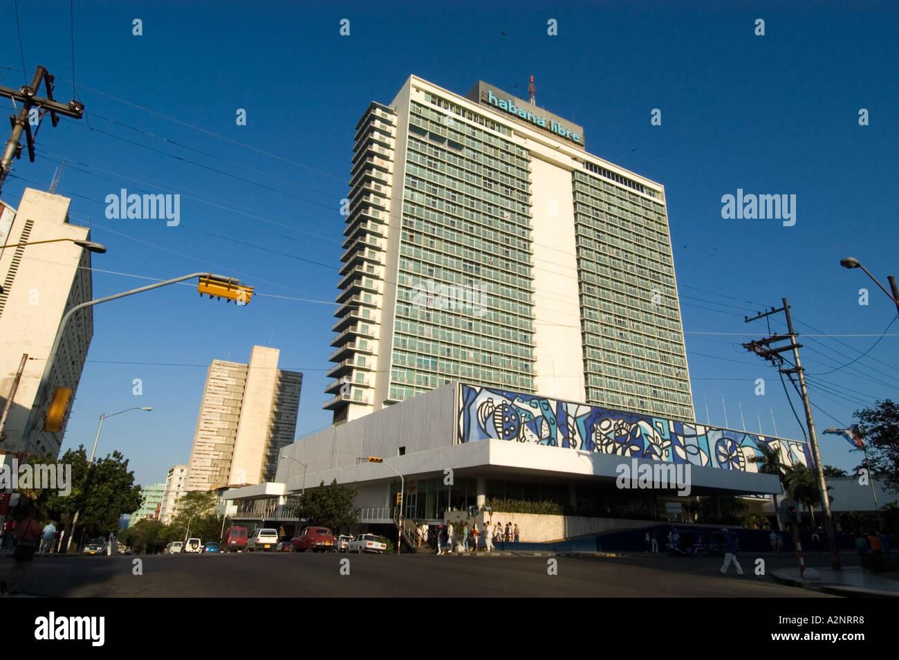 Hotel Tryp Habana Libre, Havana Cuba - Stock Image