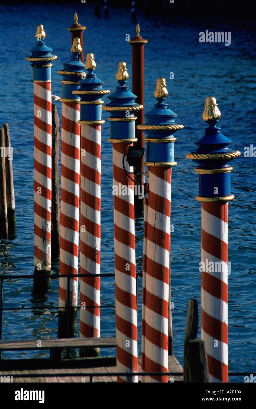 Wooden posts - Stock Image