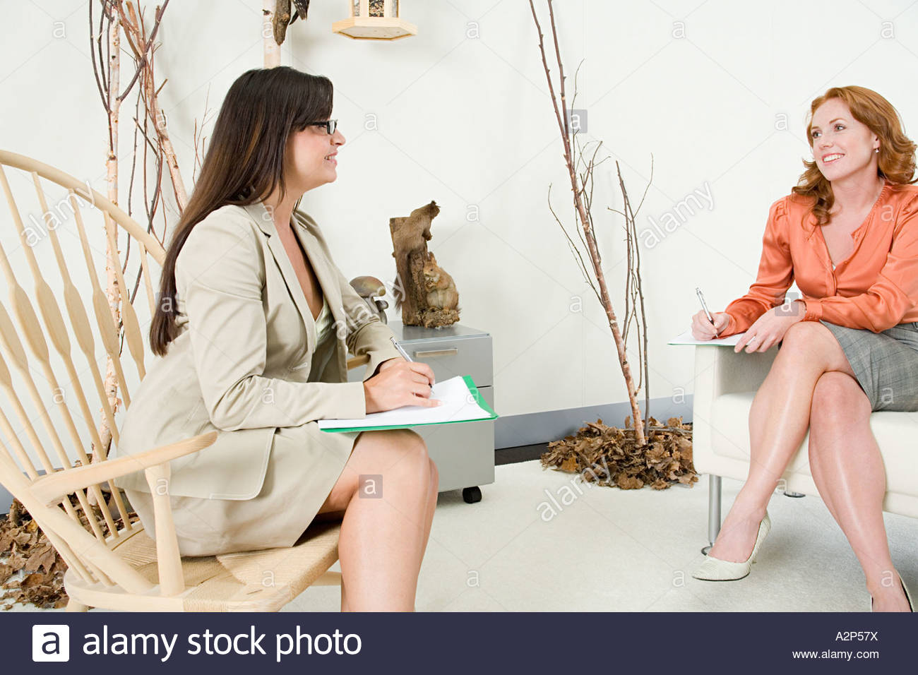 Two women in a meeting - Stock Image