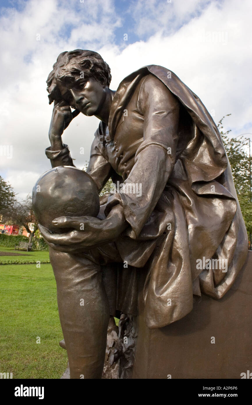 Hamlet at the Shakespeare Memorial, Stratford on Avon., Warwickshire, England - Stock Image
