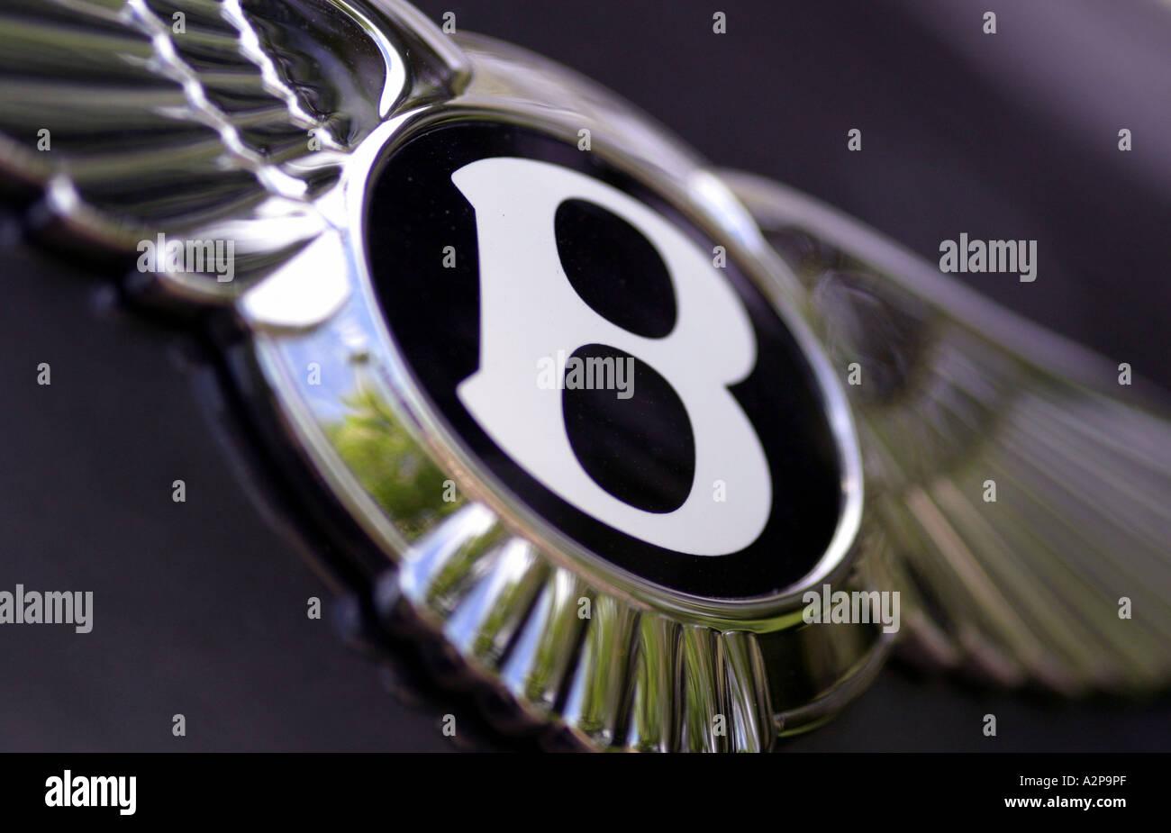 Bentley badge on a turbo - Stock Image