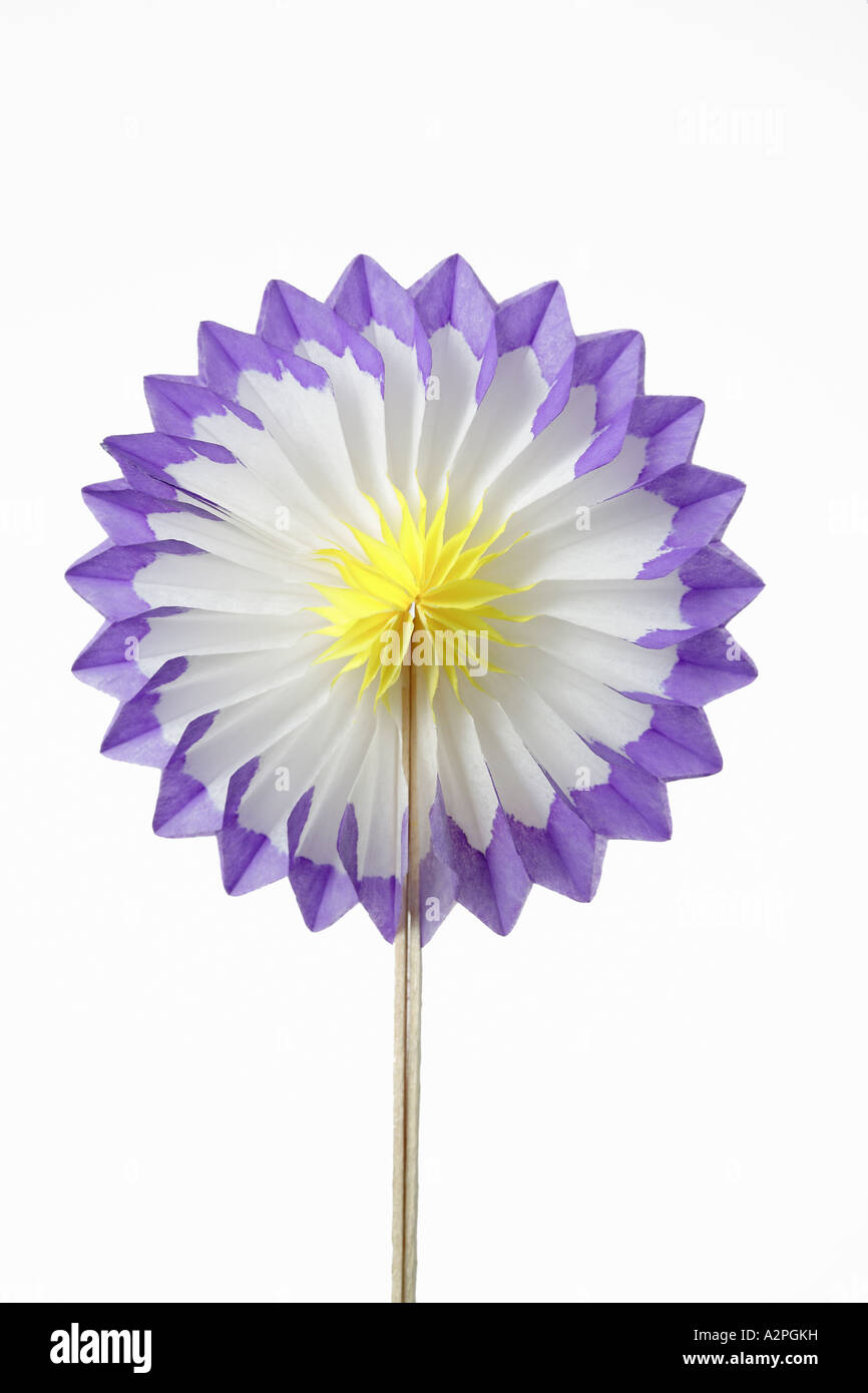 Folding paper flower against white background stock photo 10573924 folding paper flower against white background mightylinksfo