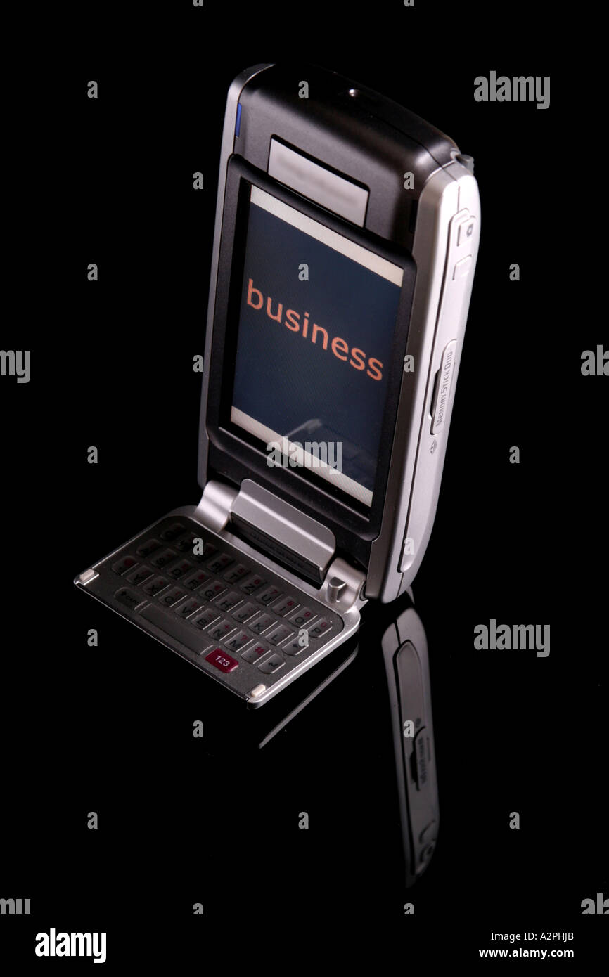 mobile phone / PDA / business - Stock Image