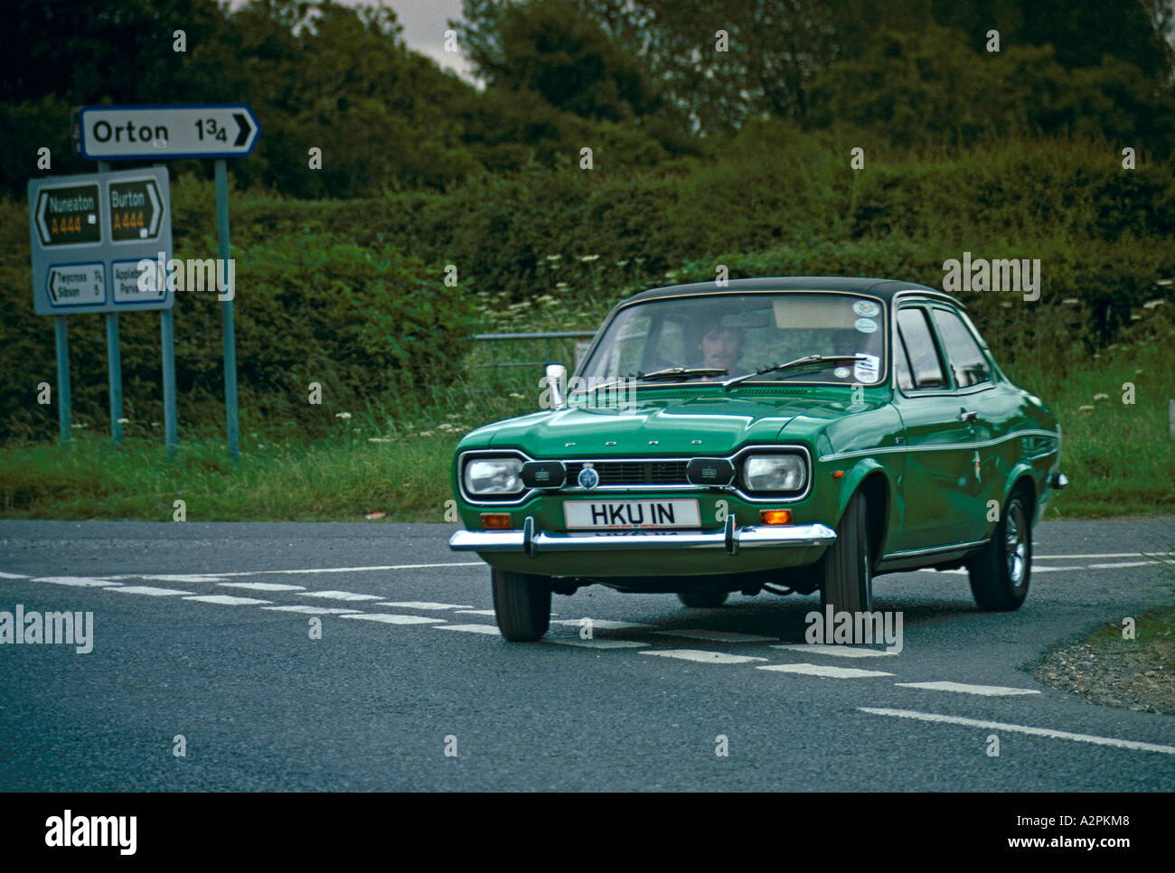 Lime colored ford escort