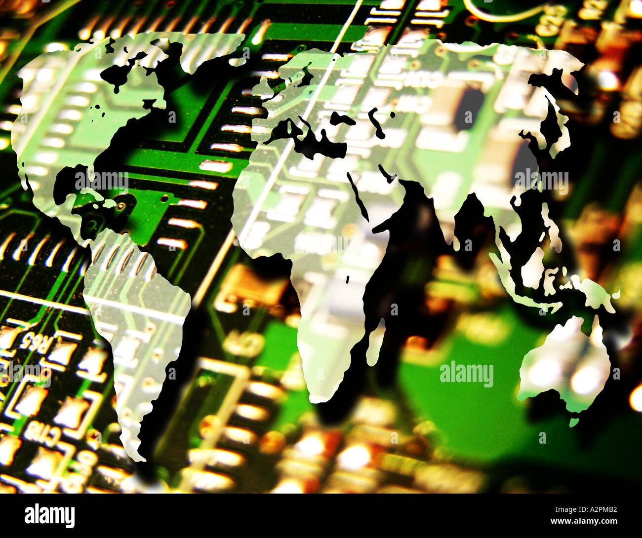 Global Technology - Stock Image