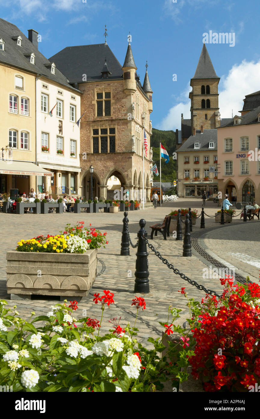 Place du Marche, Echternach, Mullerthal, Luxembourg - Stock Image