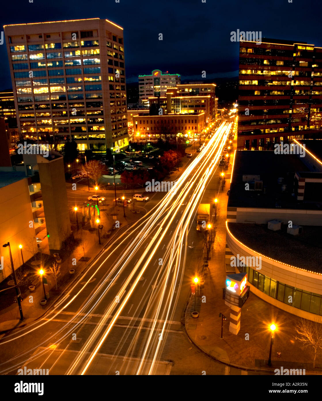 Boise Idaho In Evening Stock Photos & Boise Idaho In Evening Stock ...