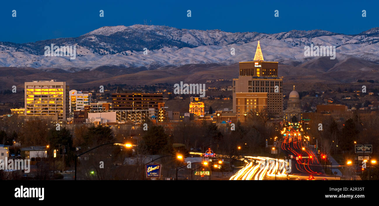 Skyline Foothills In Boise Idaho Stock Photos & Skyline Foothills In ...