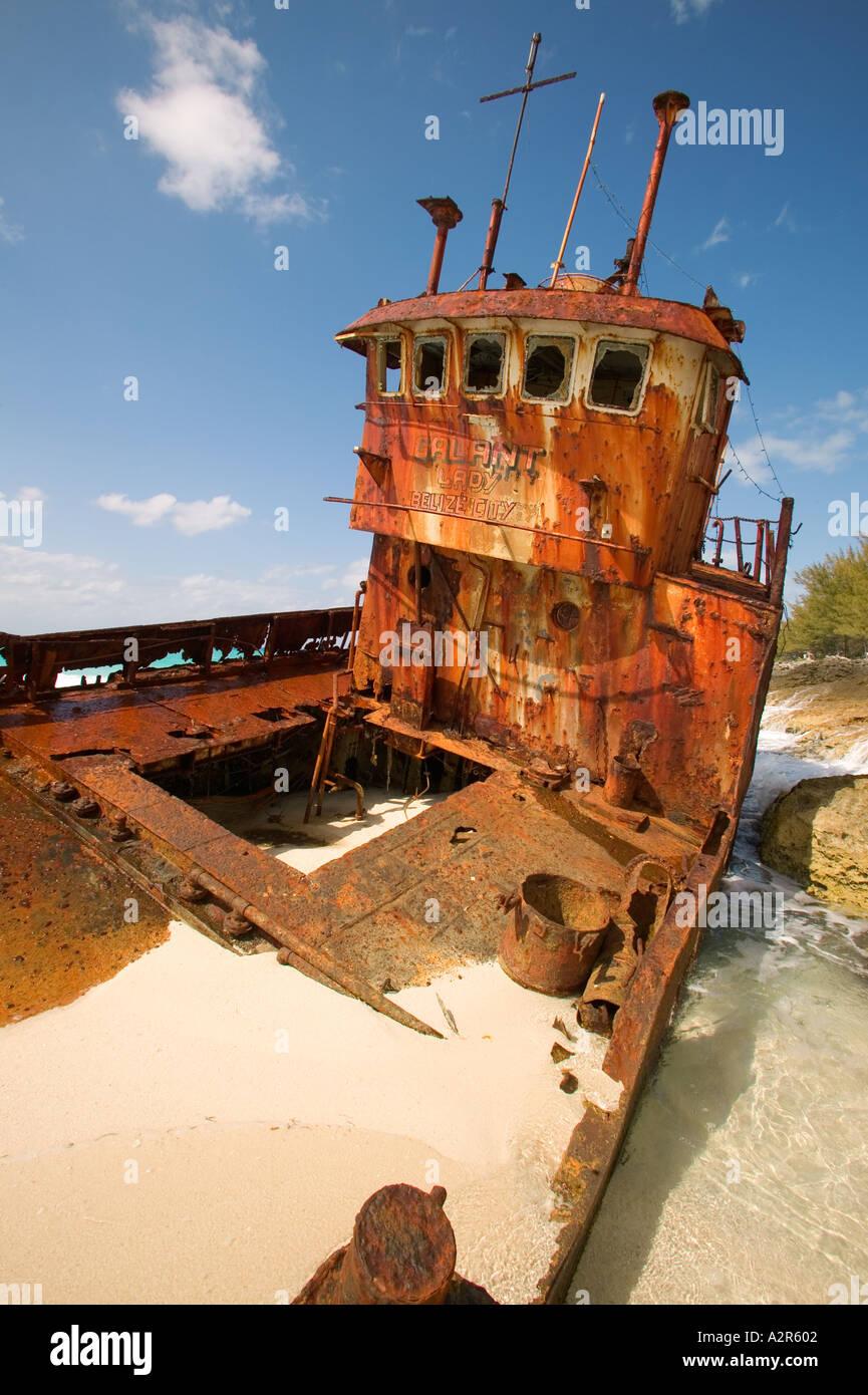 Galant Lady shipwreck Bimini Bahamas Islands - Stock Image