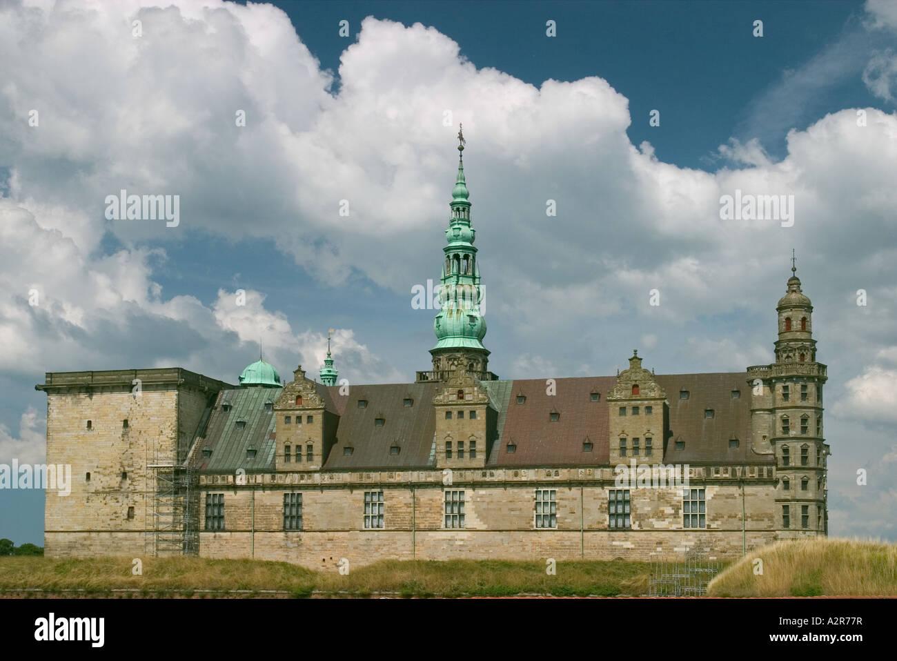 Kronborg Castle of Shalespeare s Hamlet Helsingore Denmark Photo raken from south east - Stock Image