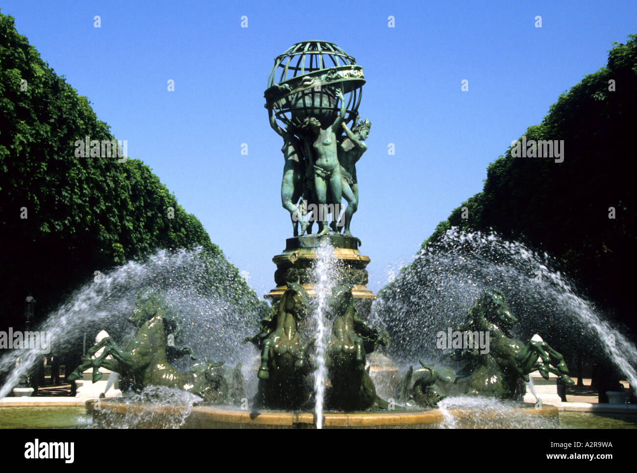 France Paris Observatory Garden Fountain The Four Parts Of The World Near  Luxembourg Gardens