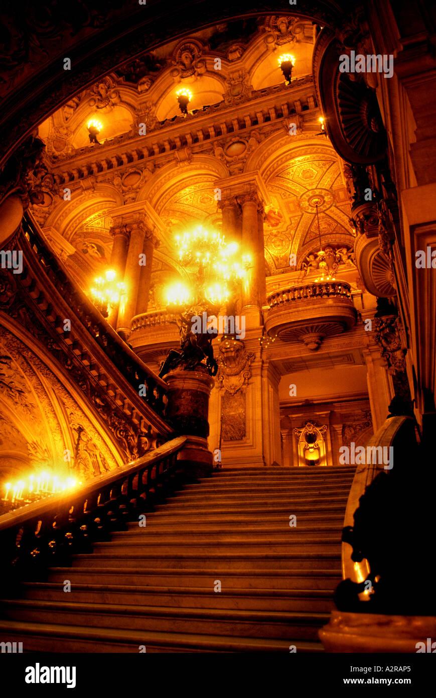 Opera Paris The Palais Garnier music dance theatre  lyric ballet performance show sensuality - Stock Image