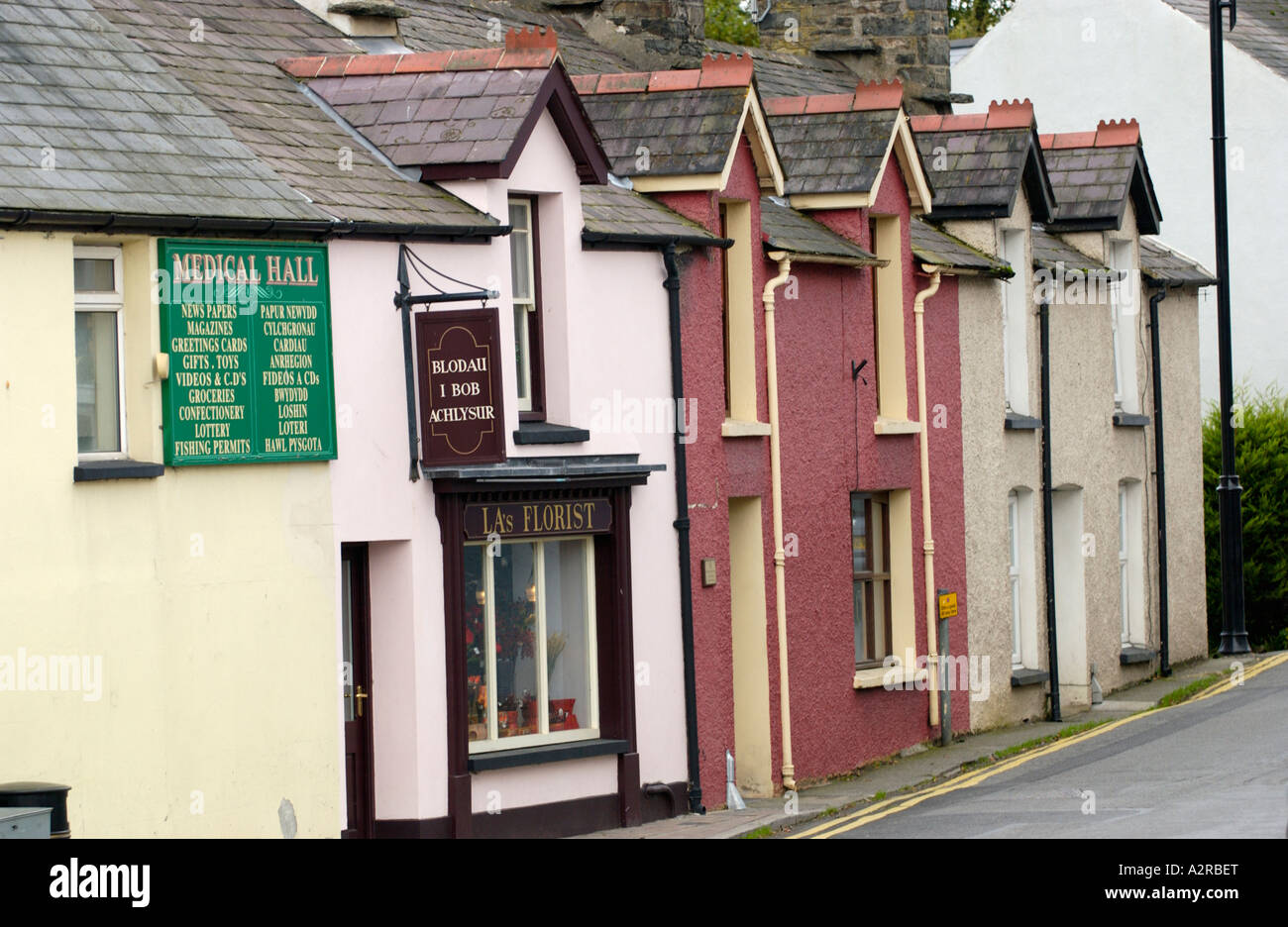 Shops And Terraced Cottages In The Rural Welsh Language Speaking