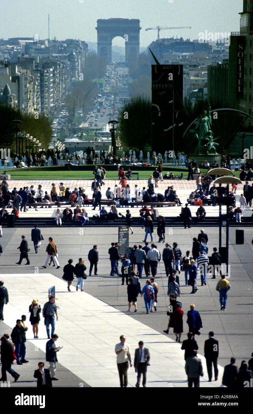 La Défense is a major business district for the city of Paris Ville de Paris bordering Neuilly-sur-Seine, France Stock Photo