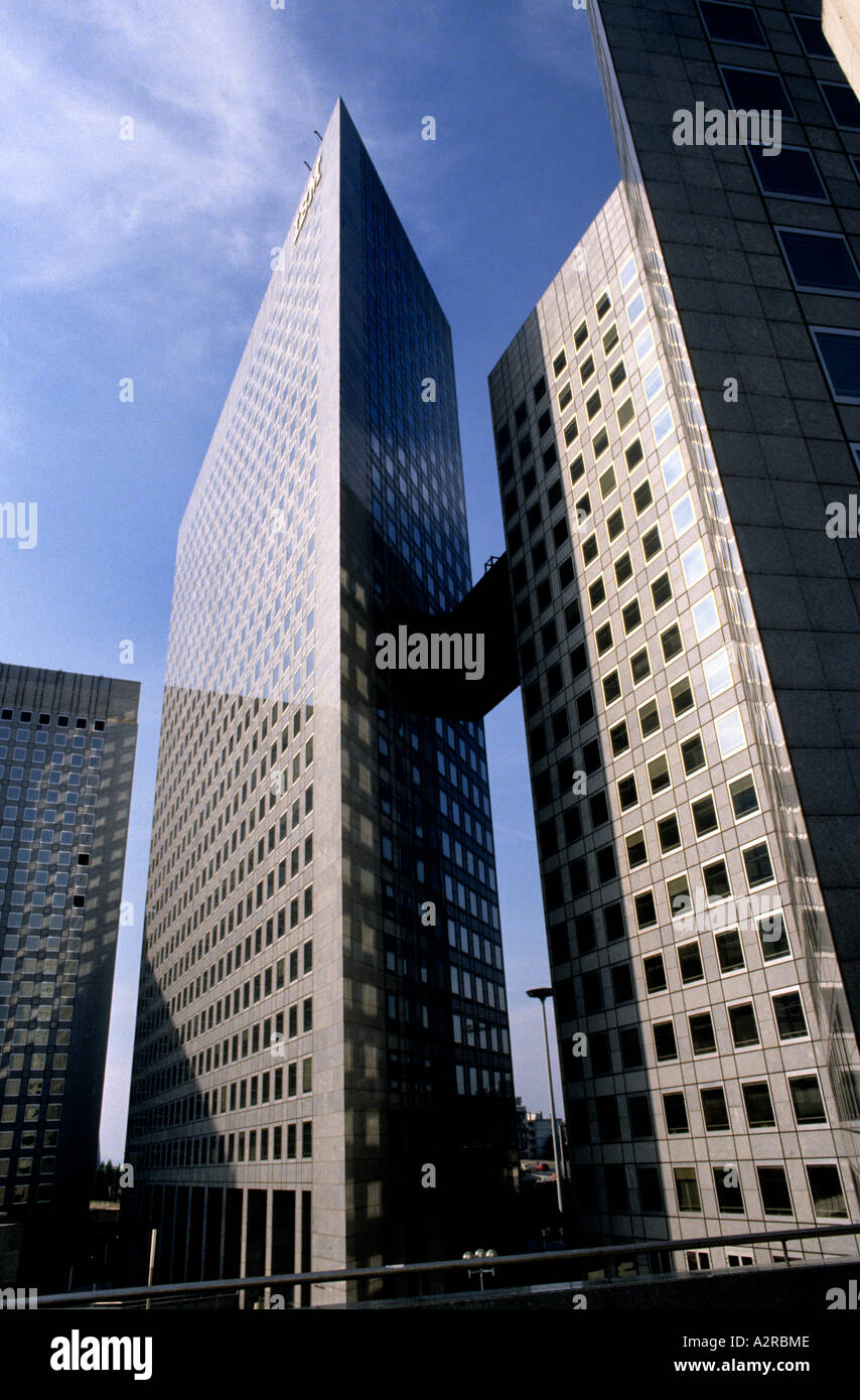 La Défense is a major business district for the city of Paris Ville de Paris bordering Neuilly-sur-Seine, France Stock Photo