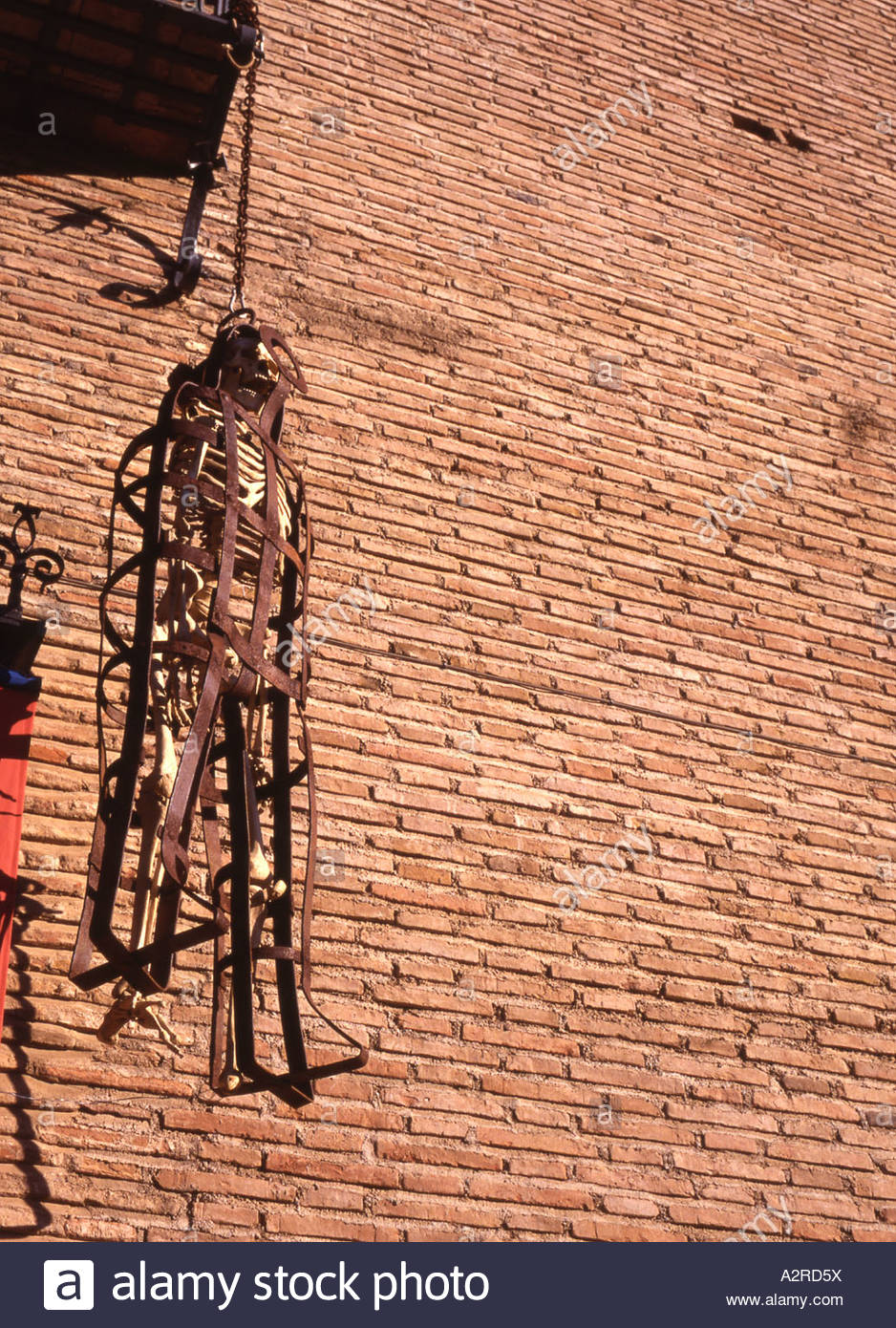 Spain Granada Instrument of Torture on wall - Stock Image