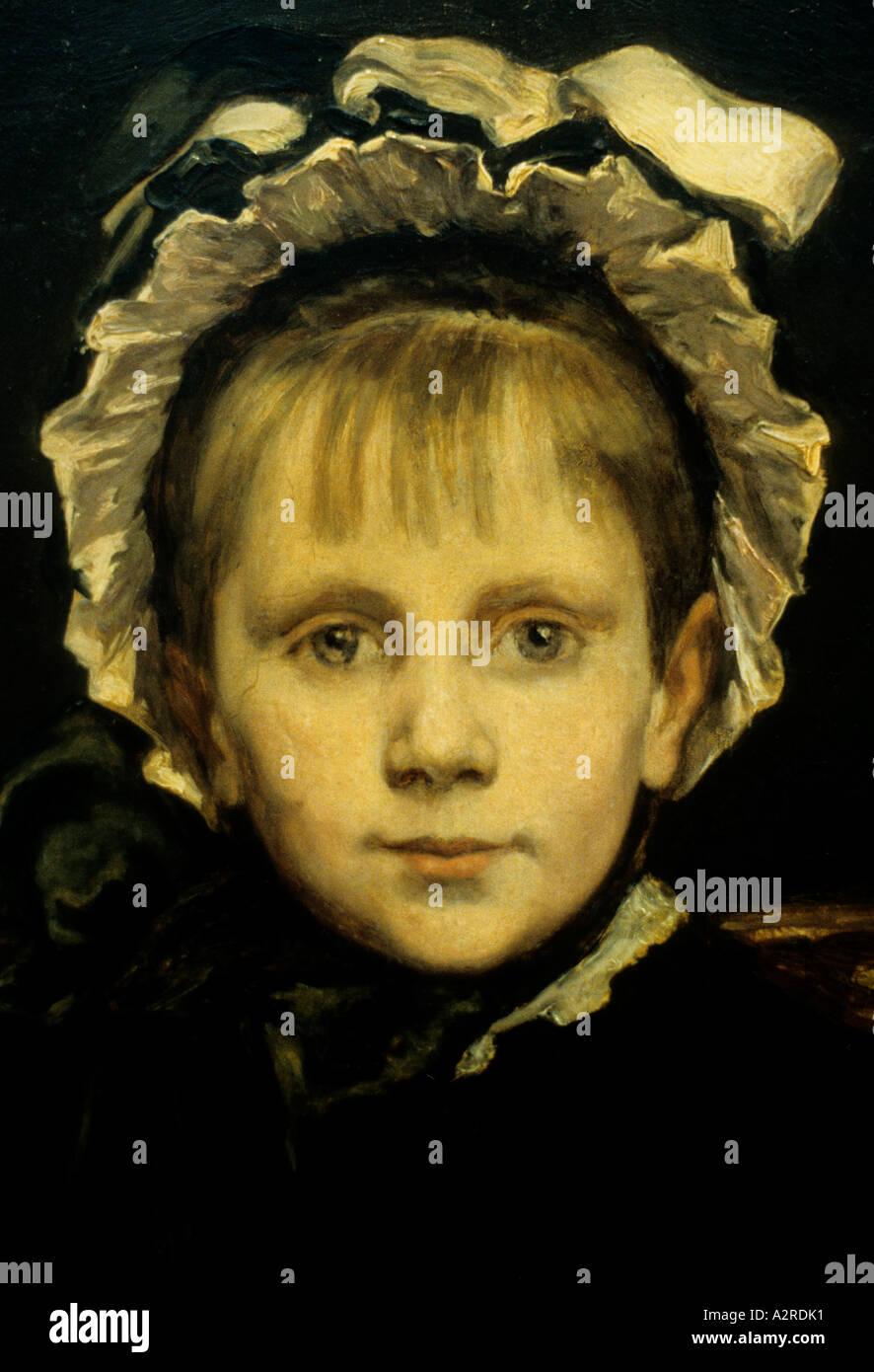 Jean Andre Alfred Cluysenaar (Belgian, 1837-1902)  Woman - Stock Image
