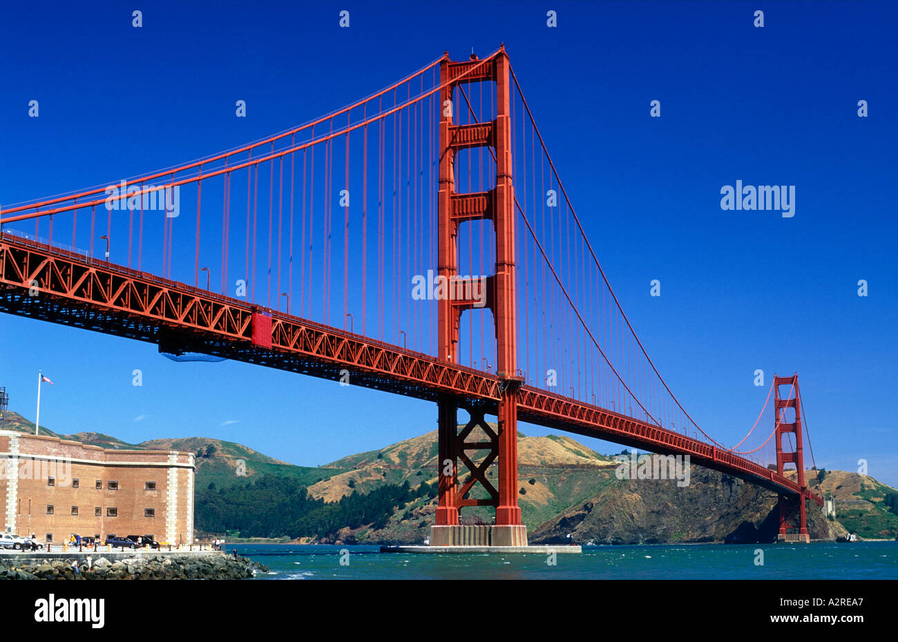 USA California San Francisco Golden Gate Bridge - Stock Image