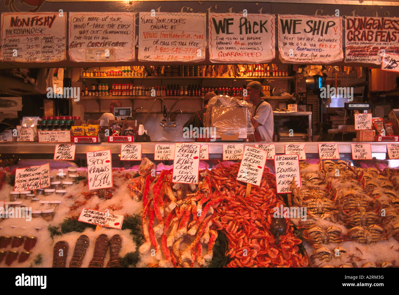 Pike place market seattle washington state usa fresh for American fish and seafood