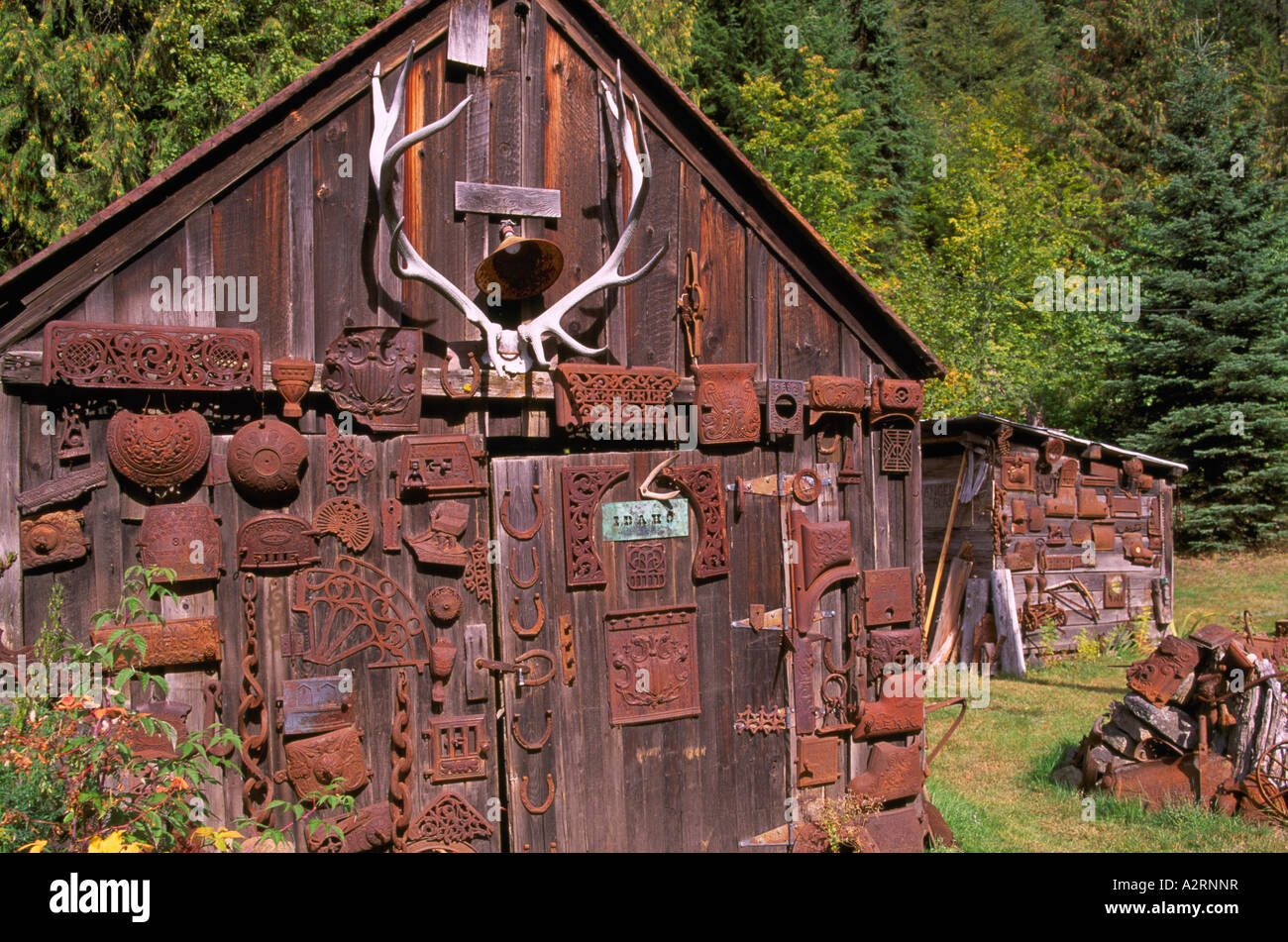 Sandon BC British Columbia Canada - Old Storage Shed in Historic u0027Silver Rushu0027 Mining Ghost Town Kootenay Region & Sandon BC British Columbia Canada - Old Storage Shed in Historic ...