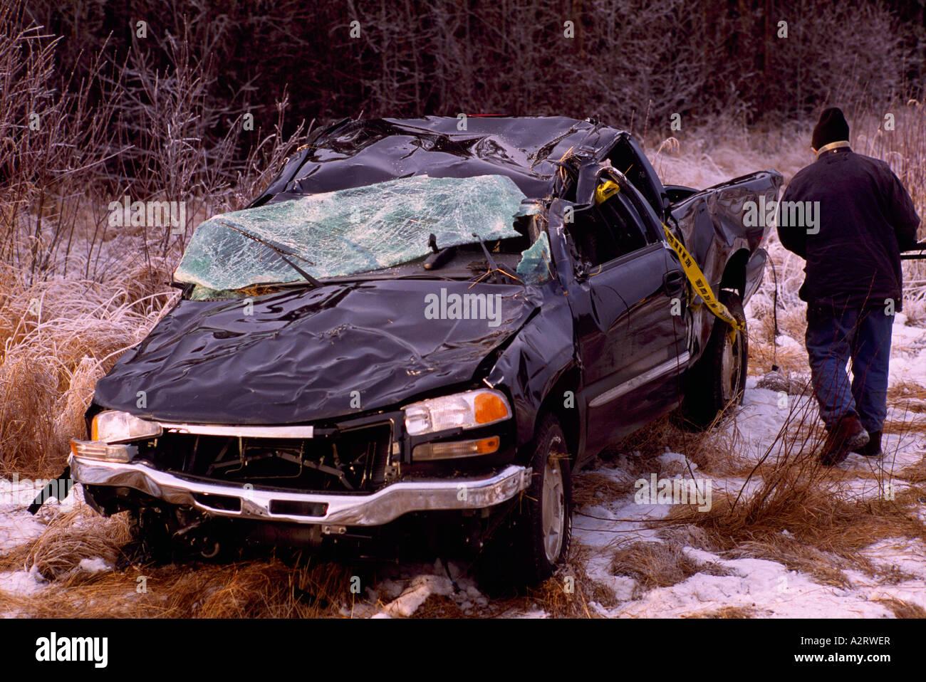 Smashed Car Crash, Car Accident Damage, Highway Road Traffic ...