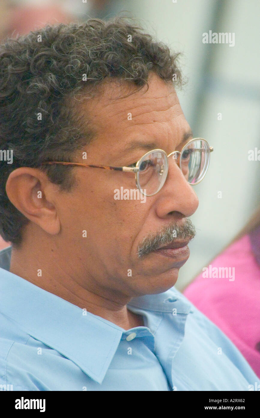 Cuban writer Roberto Estrada Stock Photo
