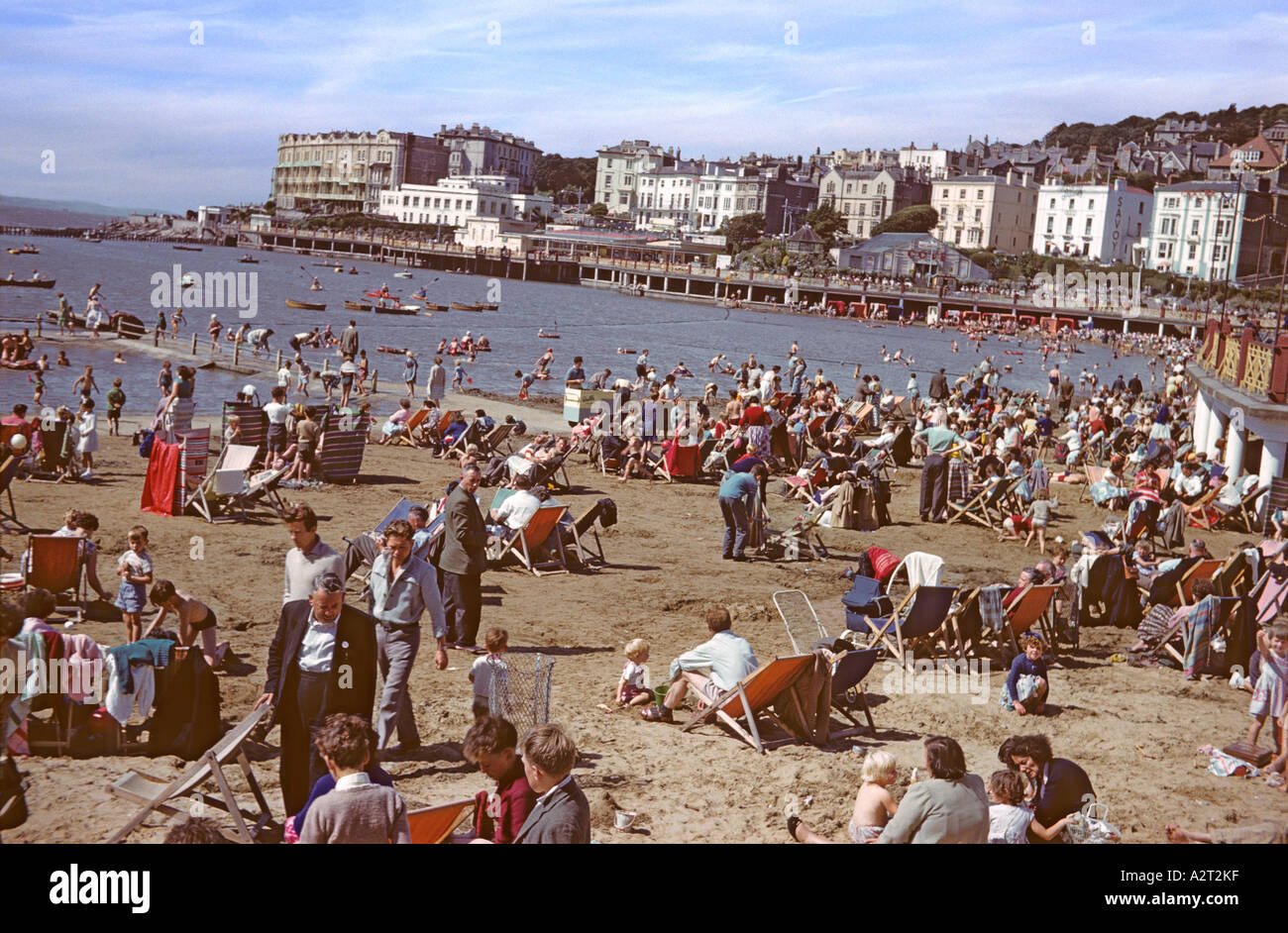 'Madeira Cove Beach, 'Weston Super Mare', Somerset, ^1960' - Stock Image