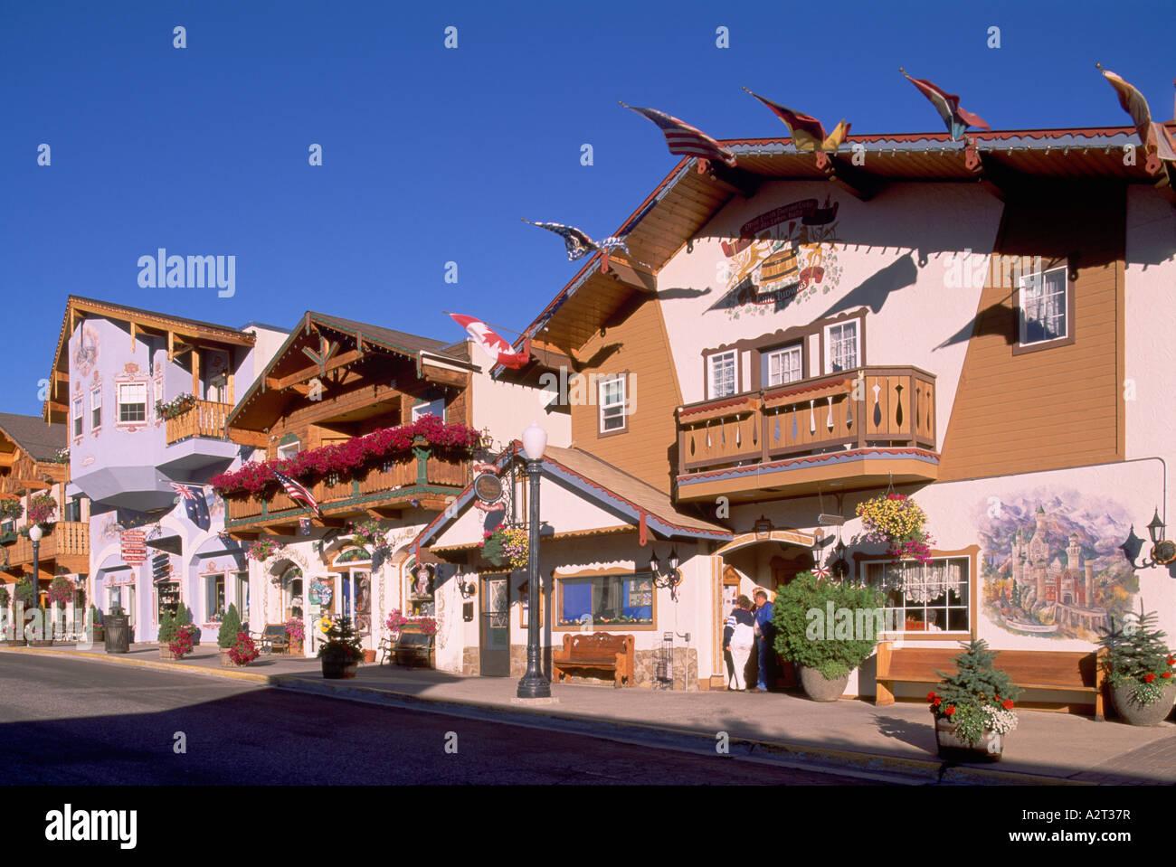Leavenworth Wa Washington State Usa Bavarian Village Downtown