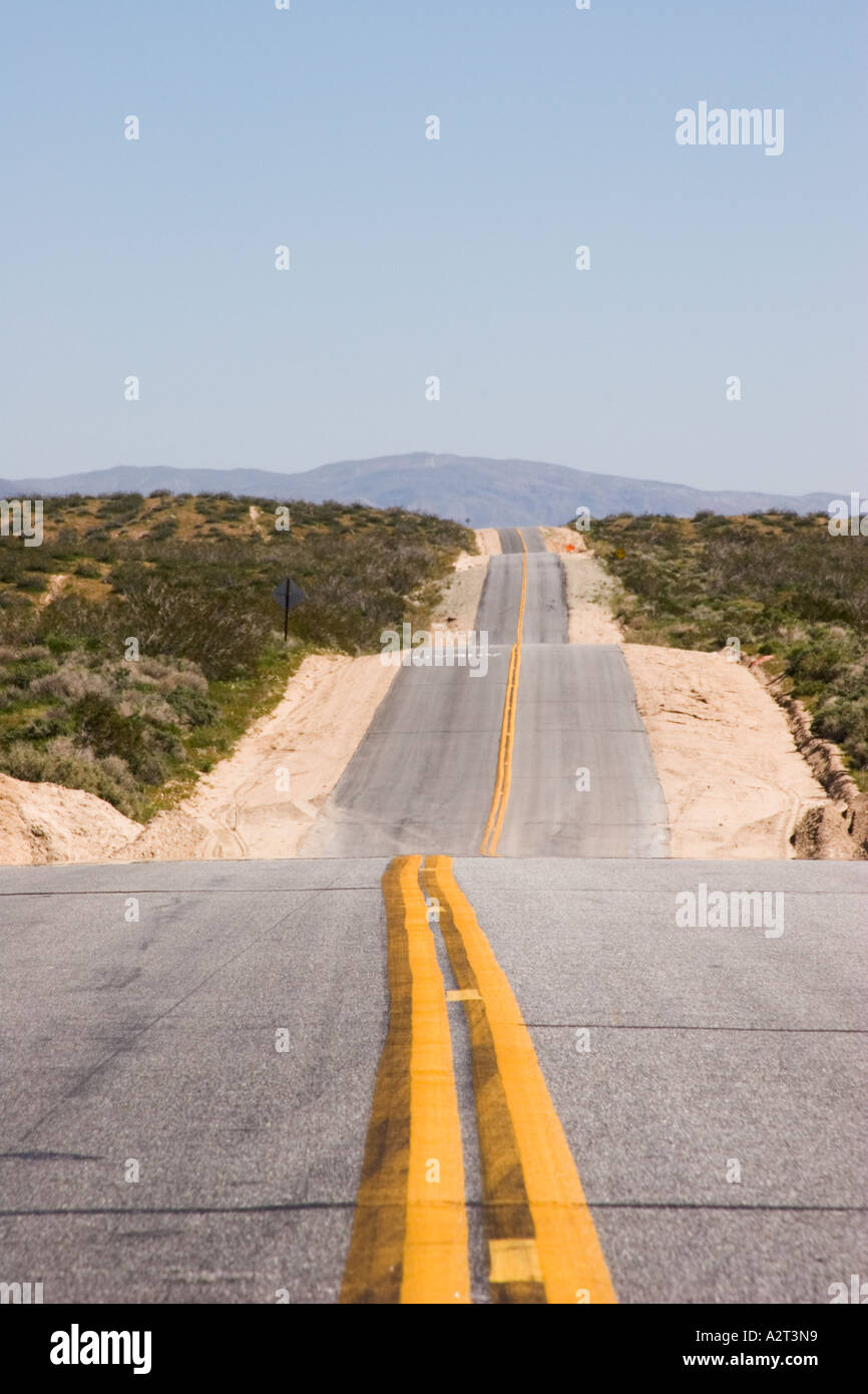 Highway 14 in Kern County, California, United States of America Stock Photo