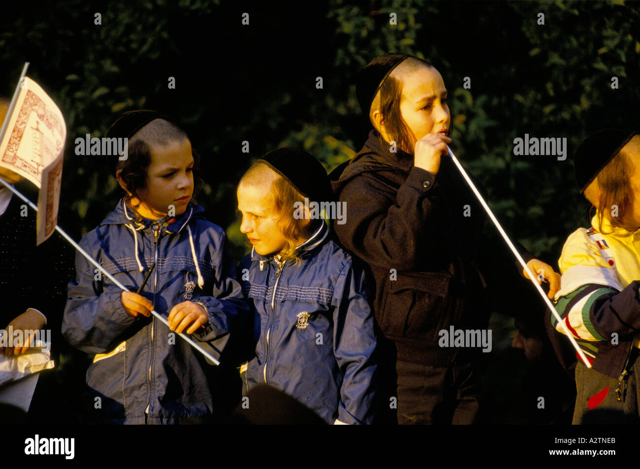 hasidic jews in stoke newington london 1991 - Stock Image